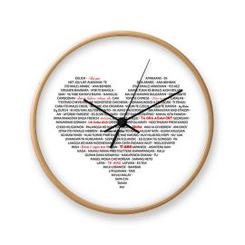 Ceas de perete I LOVE YOU - Evambient FTP - Decoratiuni perete