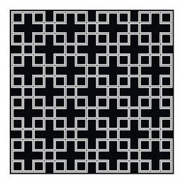 Covor Caton 300x300cm negru/ alb