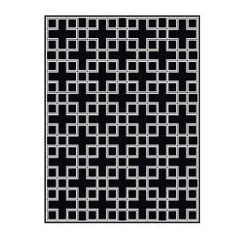 Covor Caton 300x400cm negru/ alb
