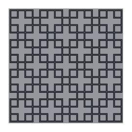 Covor Caton 300x300cm gri/ negru