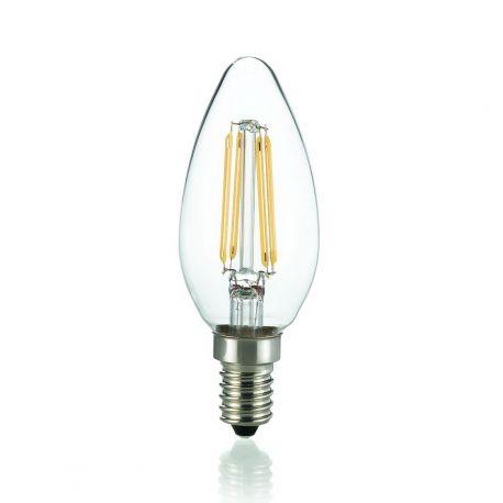 Bec LED E14 Oliva Trasparente 4000K - Evambient IdL - Becuri E14