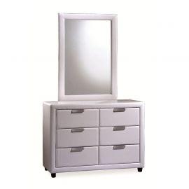 Comoda cu oglinda MITO alb - Evambient SM - Comode