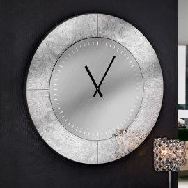 Ceas de perete decorativ AURORA Ø80 argintiu - Evambient SV - Decoratiuni perete