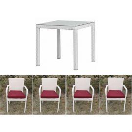 Set masa cu 4 scaune COSTA4-BL