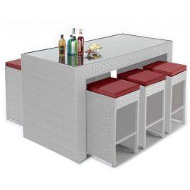 Set masa bar cu 6 tabureti MANÁ-BL