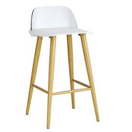 Set de 2 scaune de bar PAUL-TR alb