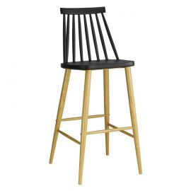 Set de 2 scaune de bar CAMUS-NE negru