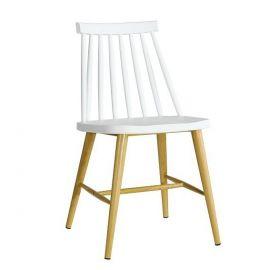 Set de 2 scaune CAMUS-BL alb