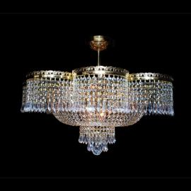 Lustra, Plafoniera Cristal Bohemia diametru 70cm