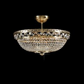 Lustra Cristal Bohemia diametru 50cm, auriu
