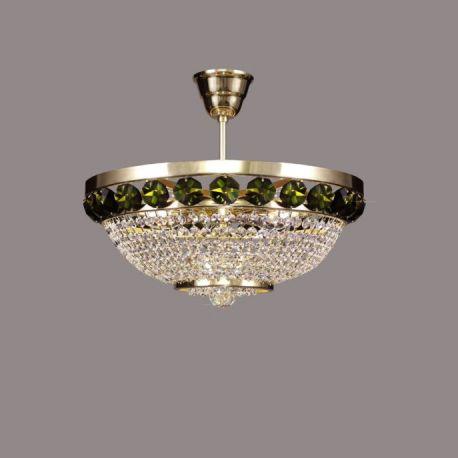 Lustra Cristal Bohemia diametru 40cm, nickel/ olivine