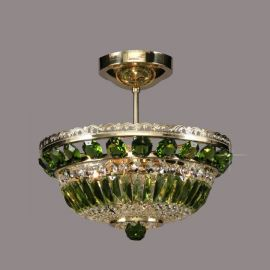 Lustra Cristal Bohemia diametru 35cm, olivine