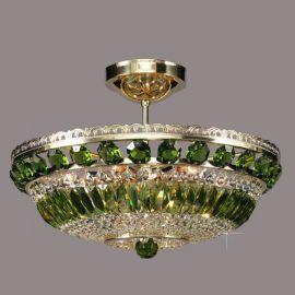 Lustra Cristal Bohemia diametru 45cm, olivine - Cristal Bohemia - Plafoniere Cristal Bohemia