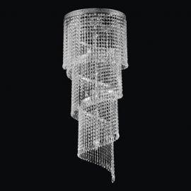 Lustra spirala Cristal Bohemia lungime 100cm, nickel