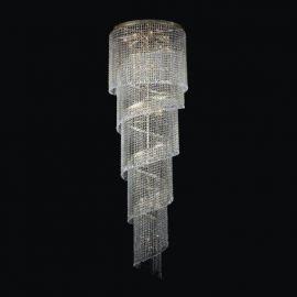 Lustra spirala Cristal Bohemia diametru 60cm, auriu