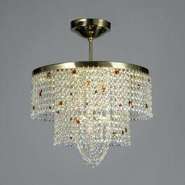 Lustra Cristal Bohemia diametru 40cm, light topaz