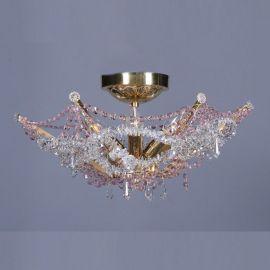 Lustra Cristal Bohemia diametru 48cm, rosaline