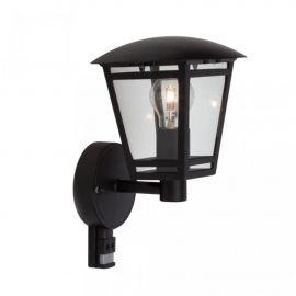 Aplica iluminat exterior cu senzor Riley neagra