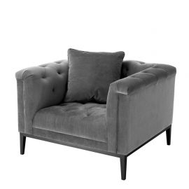 Fotoliu design LUX Cesare, granite grey