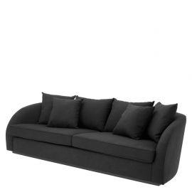 Canapea design lux Les Palmiers, panama negru