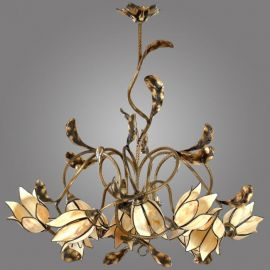 Candelabru cu 12 brate, design floral, Karkara - Evambient KM - Candelabre, Lustre