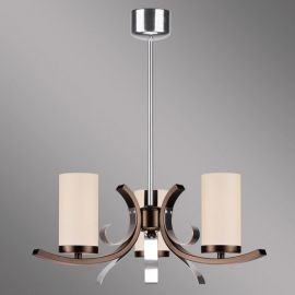 Lustra 3 brate Marami crom/ maro - Evambient KM - Candelabre, Lustre