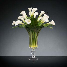 Aranjament floral BOWL CALLA, 120cm - Evambient VG - Aranjamente florale LUX