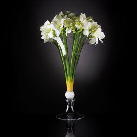 Aranjament floral VULCANO IVORY AMARYLLIS, 110cm - Evambient VG - Aranjamente florale LUX