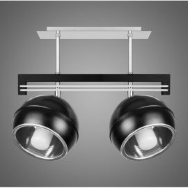 Lustra cu 2 spoturi KULE, negru - Evambient KM - Lustre aplicate