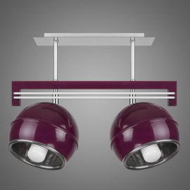 Lustra cu 2 spoturi KULE, violet - Evambient KM - Lustre aplicate