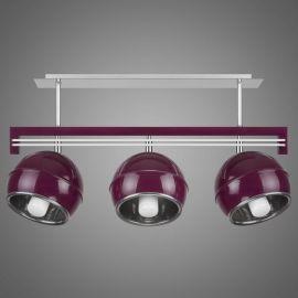 Lustra cu 3 spoturi KULE, violet - Evambient KM - Lustre aplicate