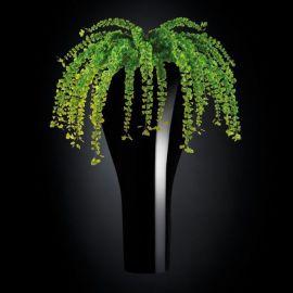 Aranjament floral TORONTO IN SHINY VASE, negru 160cm