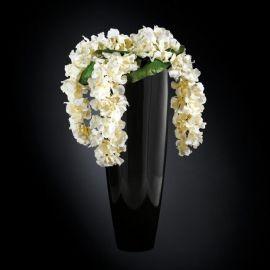 Aranjament floral OSLO IN SHINY VASE, negru 130cm - Evambient VG - Aranjamente florale LUX