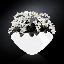 Aranjament floral VENEZIA IN SHINY VASE, alb - Evambient VG - Aranjamente florale LUX