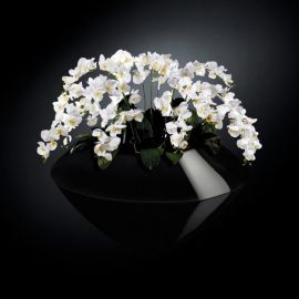 Aranjament floral VENEZIA IN SHINY VASE, negru - Evambient VG - Aranjamente florale LUX