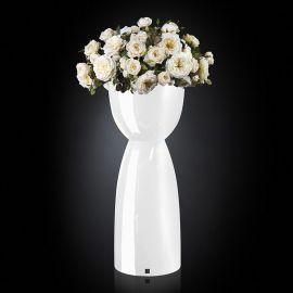 Aranjament floral VIENNA IN SHINY VASE, alb - Evambient VG - Aranjamente florale LUX