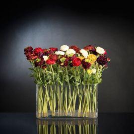 Aranjament floral, decoratiuni interior lux, bujori multicolori LUGANO