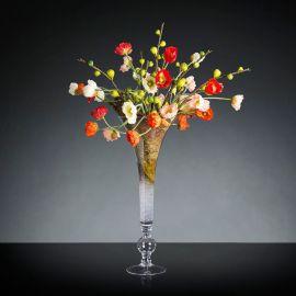 Aranjament floral lux pentru decor masa nunta, botez, maci multicolori GARDA