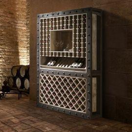 Dulap cu rafturi pentru sticle de vin design deosebit Bobal