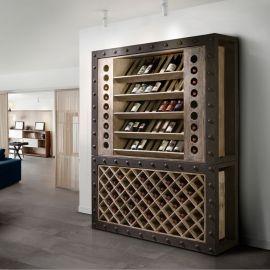 Dulap cu rafturi pentru sticle de vin design deosebit Merlot - Evambient SV - Biblioteci-Rafturi
