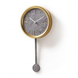 Ceas de perete cu pendul NEXO auriu