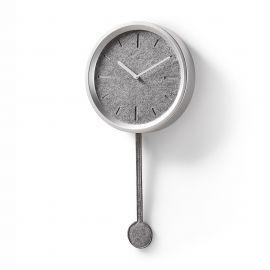 Ceas de perete cu pendul NEXO argintiu