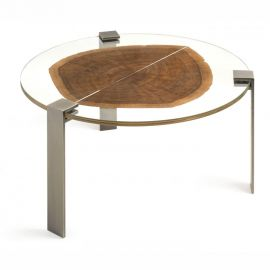 Masuta design Glass&Wood FORESTA, brass