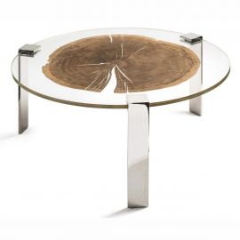 Masuta design Glass&Wood FORESTA H-31cm, otel