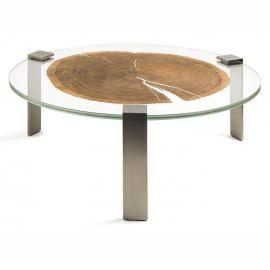 Masuta design Glass&Wood FORESTA H-31cm, brass