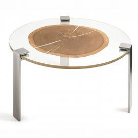 Masuta design Glass&Wood FORESTA H-31cm, pewter