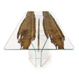 Masa design Glass&Wood VENEZIA 240x100cm