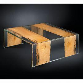 Masuta design Glass&Wood VENEZIA 100x100cm - Evambient VG - Masute Living