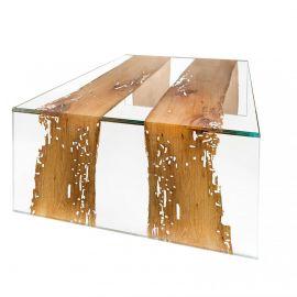 Masuta design Glass&Wood VENEZIA 120x80cm