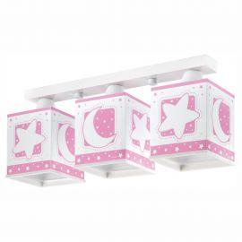Lustra aplicata camera copii Moon Light, roz